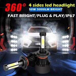 DHL fedex fast shipping 100 KITS 50W 5000LM car 4 SIDES 360 degree led 9012 H7 H11 9005 9006 9007 9004 H4 H13 CAR LED HEADLIGHT