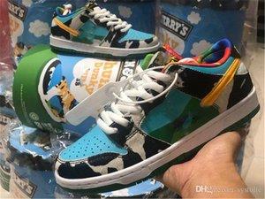 2020 Sortie authentique Ben Jerry x SB Dunk Low Pro QS Chunky Dunky Chaussures Homme Chaussures de sport en cours Lagoon Pulse Université d'or CU3244-