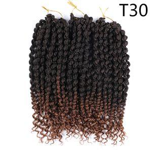 14 인치 열정 스프링 트위스트 땋는 머리카락 확장 75g / pc 가짜 locs 크로 셰 뜨개질 머리 Nubian 트위스트 합성 머리