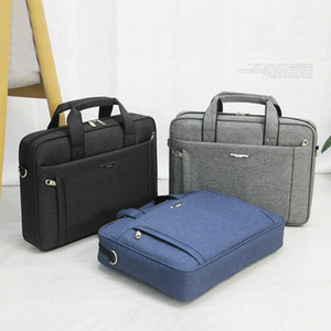 Mens Briefcases Laptop Waterproof Oxford Negócios Bolsas Casual Sólidos Messenger Bags Male Notebook Bags Pastas de computador