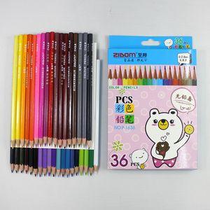 36 color children's drawing color pencil hexagon primary school students' Secret Garden coloring pen student supplies wholesale zdl1231.