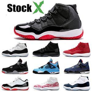 Nike Air Jordan Retro 11 der Frauen Männer Basketball-Schuh-Gamma Blau XI Win Wie Heiress Schwarz Stingray Concord Gym Red Space Jam Schuhe