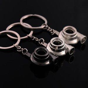 Mini Turbo Turbocharger Keychain Spinning Turbine Key Chain Ring Keyring Keyfob Car Keyring Car Interior Accessories