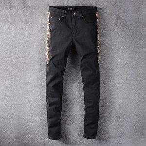 Street Tide Brand AMIRI Mens Designer Fashion Jeans AMIR New 2020 Side of The Bone Zipper Light Black Hip Hop Europe and America Jeans #634