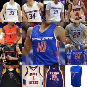 Coutume Boise State Broncos Basketball Jersey américain universitaire Derrick Alston Justinien Jessup RJ Williams Kigab Alex Hobbs Chandler Hutchison