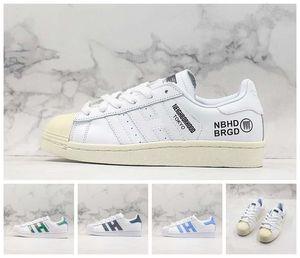 2019 Yeni Ucuz Düşük OG Shell-Ayak parmakları Klasik Skate Ayakkabı Beyaz Demin Blue Diamond Casual Vintage Tasarımcı Eğitmen Sokak Spor Sneaker Ayakkabı