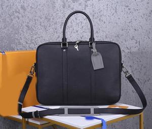 디자이너는 M30365 빅터 핸드백 최고 품질 L 꽃 정품 가죽 최고 품질의 비즈니스 서류 가방 남자 핸드백 남성 지갑 가방 서류 가방