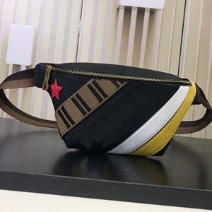 Sac bandoulière poitrine sac de taille Wallet New Style Mode Litchi Imprimé F Lettre Patchwork Couleur Véritable Sac en cuir Livraison rapide