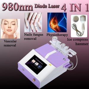 Fisioterapia cuerpo de la máquina de tratamiento del dolor terapia física 980nm diodo láser máquina Sangre de eliminación buques vascular Remoción