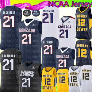 Gonzaga Bulldogs 21 Rui Hachimura Jersey New Gonzaga Bulldogs College di cucito pullover di pallacanestro Mens NCAA S-XXL