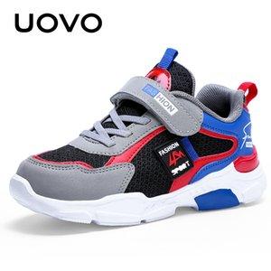 UOVO enfants Chaussures de sport garçons et les filles Chaussures de course 2020 Automne Enfants Mode Mesh respirant Sneakers # 28-39