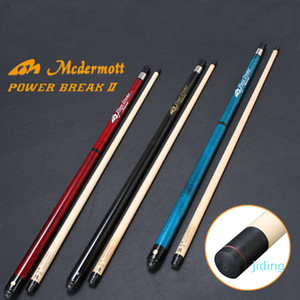 Wholesale-2019 New McDermoBreak Punch Jump Cue 13mm Tip 144cm Length Maple Ash Wood Option Red Blue Black Made in China