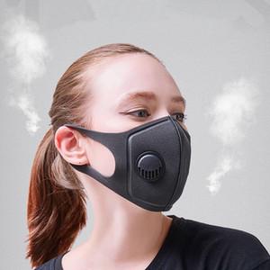 Nero Anti Polvere Maschera PM2. 5 Filtro di respirazione Valvola viso bocca maschere riutilizzabile bocca Copertura Anti Nebbia Foschia respiratore Uomini Donne