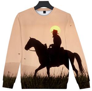 새로운 패션 남자 / 여자 RED DEAD REDEMPTION 2 3D 인쇄 캐주얼 셔츠 스웨터 후드 SY11