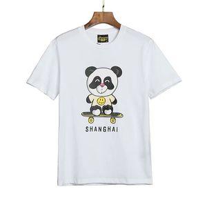 2020 de lujo EE.UU. Casa Shanghai monopatín Moda Hombres camiseta Panda diseñador de camisetas de las mujeres de Justin Bieber Hip Hop Casual algodón de la camiseta