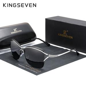 KINGSEVEN ретро женщин солнцезащитные очки поляризованные Роскошные дамы марка дизайнера Gradient объектива Солнцезащитные очки для женщин Женский CX200704