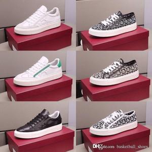 Los hombres de Ferragamo la moda plate-forme Luxu zapatillas de deporte de los deportes zapatos planos casuales Formadores Walking Trainer velocidad de la vendimia Tamaño 38-45