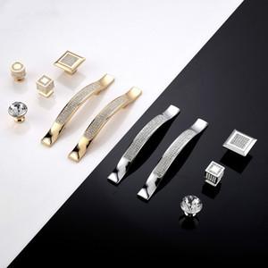 홈 부엌 장식 현대 다이아몬드 크리스탈 서랍 캐비닛 찬장 쥬얼리 옷장 문 손잡이 노브 홈 개선