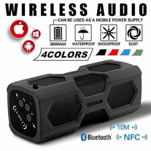 Портативный Bluetooth 4.2 беспроводной динамик водонепроницаемый USB Power Bank Bass NFC AUX