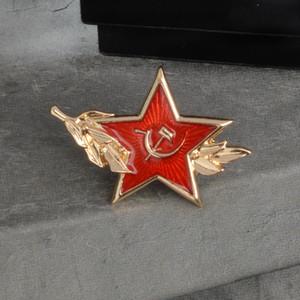 Carta lapela Liga da Juventude Comunista logotipo especial cartoon broche criativa Denim emblema presente Pentagrama Folha Scythe