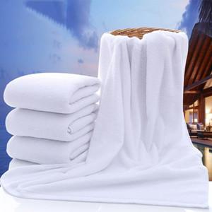 70 * 140cm Hôtel Serviettes de Bain Guest House 100% Coton Serviette Blanche Doux Fournitures de Salle de Bains Usage Unisexe Natural Safe Serviette De Bain DH0710