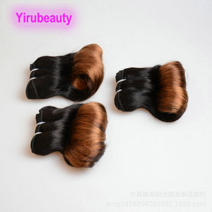 "Funmi Hair 1B 30 Ombre Hair Hot Style 10A 12A Funmi Curl Double Wefts 3 Bundles 10-26"" Peruivan Virgin Hair Extensions"