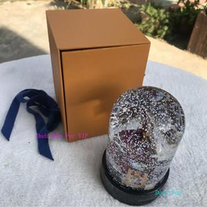 подарочная коробка мода классический подарок L sytle роскошный Кристалл украшения бренда transparcy L снежный шар VIP рождественский подарок