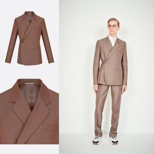 Benzersiz Tasarım Damat Düğün Smokin Yan Bir Düğme Slim Fit Erkek 2 Parça Pantolon Resmi Akşam Yemeği Parti Balo Blazer Suits Suits