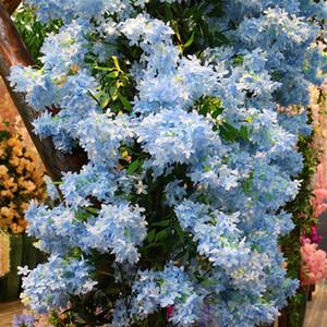 زهرة اصطناعية 35 بوصة (90 سم) طويل إزهار الكرز الاصطناعي متعدد الألوان اختياري سميكة أرجواني الزفاف الديكور ساكورا EEA476