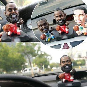 س نسخة نجم كرة السلة تشكيلة هاتف السيارة حامل البندول لطيف دمية يهز رأسه تزيين السيارات لوحة القيادة