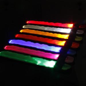 Наручный ремешок из светодиодов света многоцветный творческий повязка на руку свечение приветствие опора 8 цветов хлопать круг завод прямых продаж 2 8yb p1