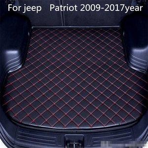 Для Jeep Patriot 2009-2017year сек Автомобиль противоскольжения коврик багажного отделения водонепроницаемый кожа Ковер автомобиля коврик багажного отделения Flat Pad
