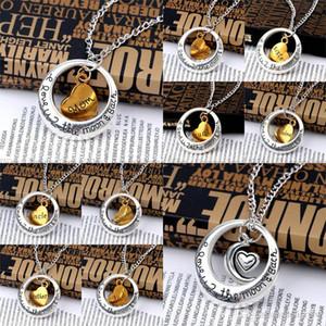 Collana regalo la collana Chain Love You To The Moon And Back epoca collana in argento Famiglia Mamma Natale