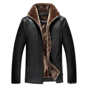 Мужская меховая искусственная мода мотоцикл кожаная куртка мужчины осень зимние куртки