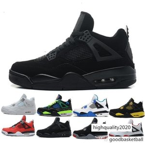 High Quality 4 4s White Cement Pure Money Basketball Shoes Men Women Bred Royalty Game Royal Sports Sneakers size 36-47