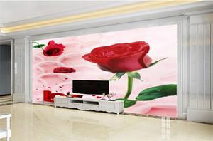 Custom Photo 3d Wallpaper Wir mögen das schöne feuchtigkeitsbeständige Tapetenpapier mit der zarten roten Rose HD 3d