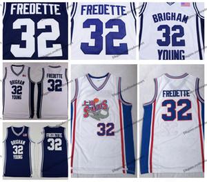 Hombre Brigham Joven Pougars Jimmer Fredette College Basketball Jerseys Vintage Jimmer Fredette # 32 Shanghai Sharks Steins Basketball Shirts