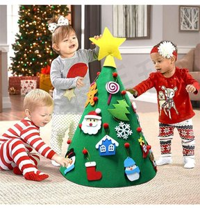 3D DIY Felt Toddler Christmas Tree New Year Kids Gifts Toys Artificial Tree Xmas Home Decoration Hanging Ornaments JLE423