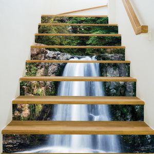 Paso Escaleras Embellecer decorativo Planta Perfecta etiqueta engomada creativa del paisaje de la escalera