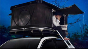 OTEJM Outdoor Equipamentos de viagem ABS hard-top Camping Car / Truck / SUV / Van Roof Top Tent