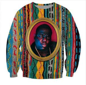 2020 Yeni Moda Unisex Kazak Notorious B.I.G Komik 3D Baskı Crewneck Sweatshirt Erkek Kadın Style Kazaklar WY05