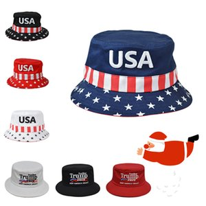 Trump 2020 Fisherman Hat Men Hip Hop Bucket Hats American President Election Embroidery Trump hats Woman Travel Designer's hatT2C5109