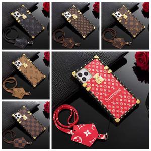 Klassische Marke Old Blumen-Designer-Telefon-Kasten für IPhone 11 11 Pro Max X XS MAX XR 8 8 plus 7 7P 6s PU-Leder Handyabdeckungs-Fall A15