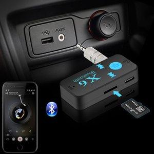 بلوتوث سيارة X6 استقبال الموسيقى محول جاك 3.5mm لاسلكي يدوي سيارة كيت مع TF قارئ بطاقة