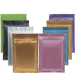 multi cor Resealable Zip Mylar saco de armazenamento de alimentos folha de alumínio sacos plásticos de embalagem saco de Cheiro Bolsas Proof