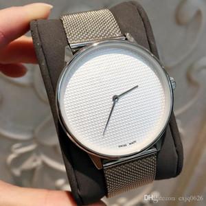 최고 럭셔리 패션 남성의 쿼츠 손목 시계 스테인레스 스틸 여성 시계 실버 연인 배송비 2,019 드롭 최고의 선물 도매 PRI의 시계
