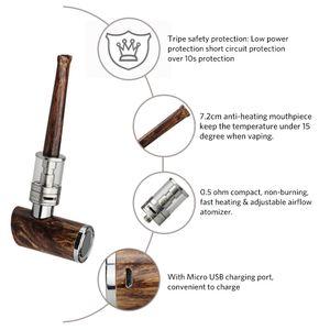 Extra 5pcs Atomizer Coils and 100% Original kamry k1000 Plus Electronic Cigarette E Pipe Hookah Pen Wooden E-Pipe Full kit