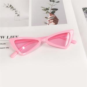 كاندي الألوان نظارات اطفال للبنات العلامة التجارية المثلث نظارات شمسية الأطفال بنين في الهواء الطلق المضادة للأشعة فوق البنفسجية عين القط نظارات UV400