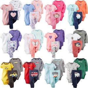 2020 a Generation of Foreign Trade Childrens Clothing Young Childrens Cotton Cartoon Long-Sleeved Short-Sleeved Romper Jumpsuit Pants Suit