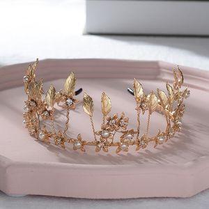 Wedding Party FORSEVEN Mulheres Birthday Girl Simulately Pérolas Royal Princess Cabelo Loops Tiara Coroa Diadem nupcial da noiva Headband